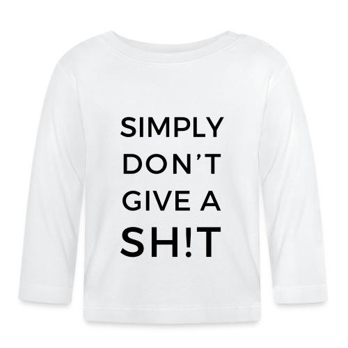 SIMPLY DON'T GIVE A SH!T - Maglietta a manica lunga per bambini