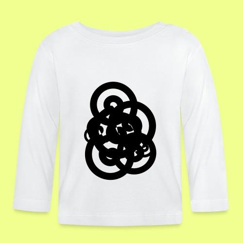 espirales negras - Camiseta manga larga bebé