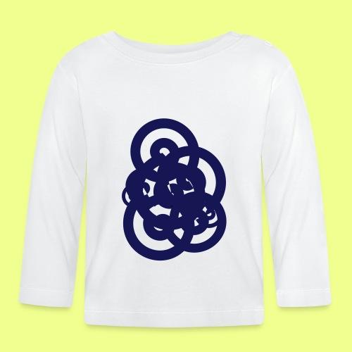 espirales azul - Camiseta manga larga bebé