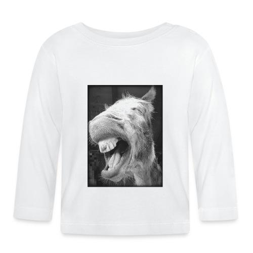 lachender Esel - Baby Langarmshirt
