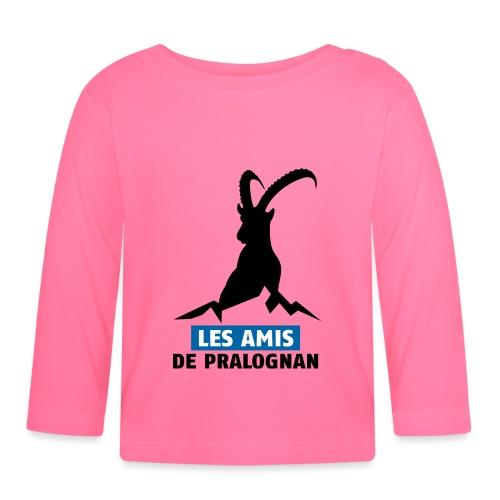 Logo Les Amis de Pralo grand noir - T-shirt manches longues Bébé