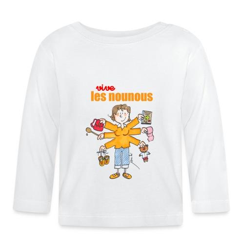 Danger ecole vive les nounous [mp] - T-shirt manches longues Bébé