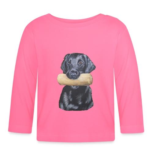 flatcoated retriever Dumbbell - Langærmet babyshirt
