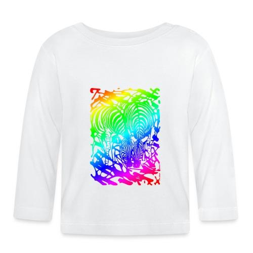 Rainbow Zebras - Vauvan pitkähihainen paita