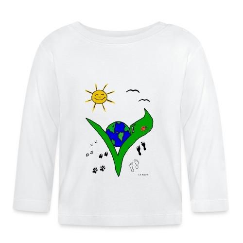 Ein Logo geht um die Welt - Baby Langarmshirt