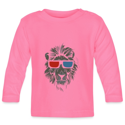 Lion 3D - Långärmad T-shirt baby