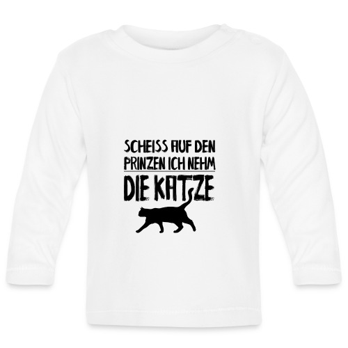 Katze Katzen Katzenliebhaber Geschenk Katzenliebe - Baby Langarmshirt