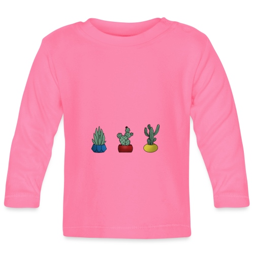 Primary cactus - Langærmet babyshirt