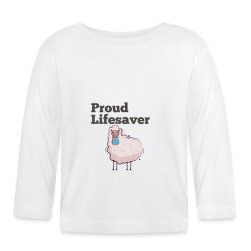 Schlafschafe retten Leben mit Mundschutz - Baby Langarmshirt