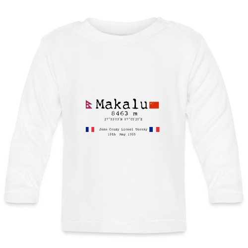 Makalublack - Maglietta a manica lunga per bambini