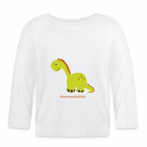 hermosos bebitos dinosaurio - Camiseta manga larga bebé