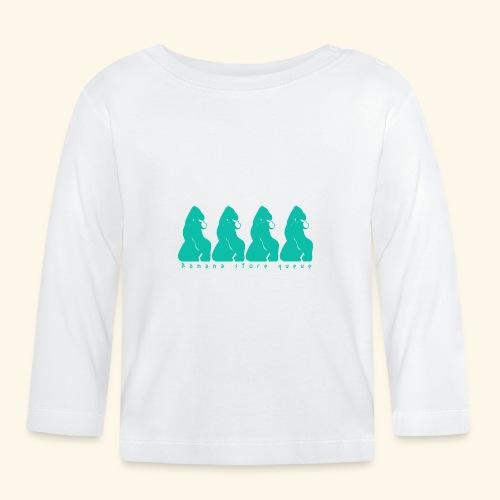 Gorille & file d'attente - T-shirt manches longues Bébé