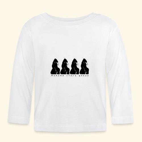Gorille & file d'attente (version noire) - T-shirt manches longues Bébé