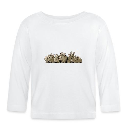 Lapins gris - T-shirt manches longues Bébé