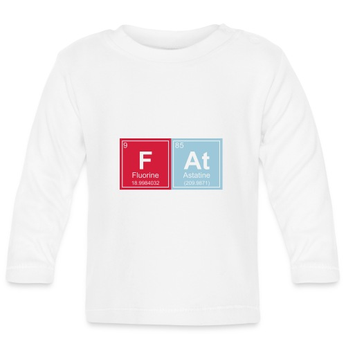 Geeky Fat Periodic Elements - Baby Long Sleeve T-Shirt