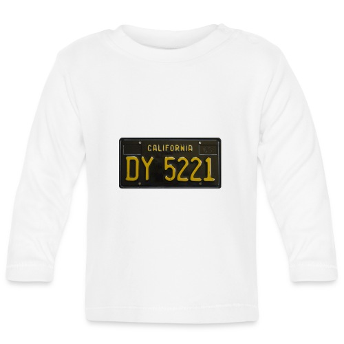 CALIFORNIA BLACK LICENCE PLATE - Baby Long Sleeve T-Shirt