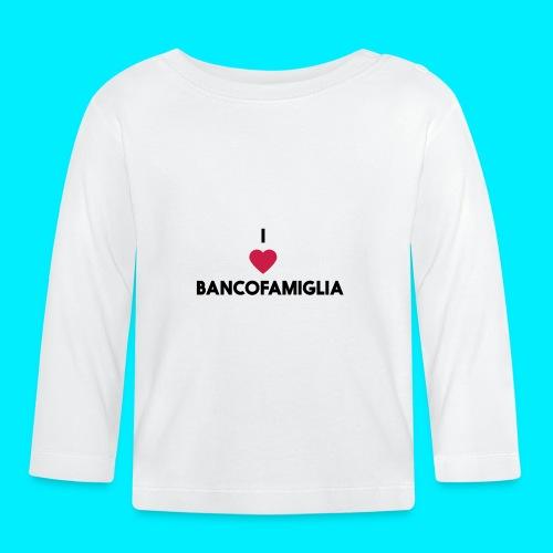BANCOFAMIGLIA CuoreNera - Maglietta a manica lunga per bambini