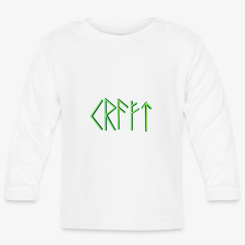 Kraft in Runenschrift - Baby Langarmshirt