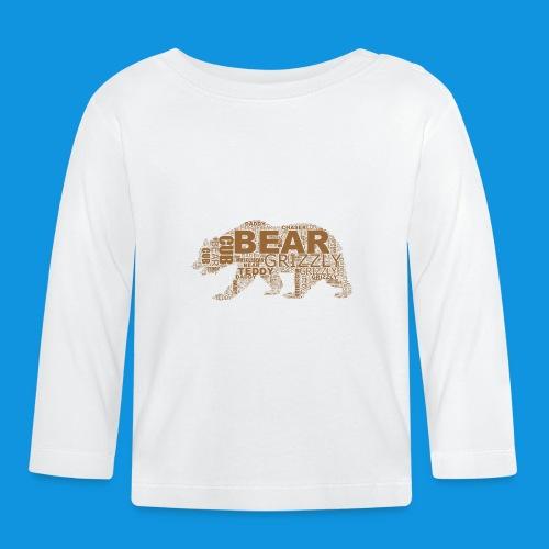 Bear Word Cloud - Baby Long Sleeve T-Shirt