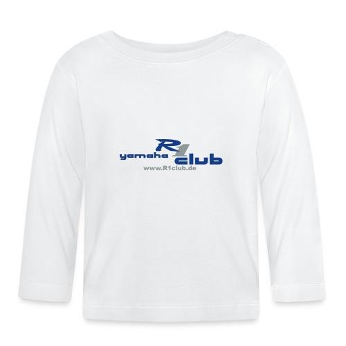 R1club Logo blau - Baby Langarmshirt