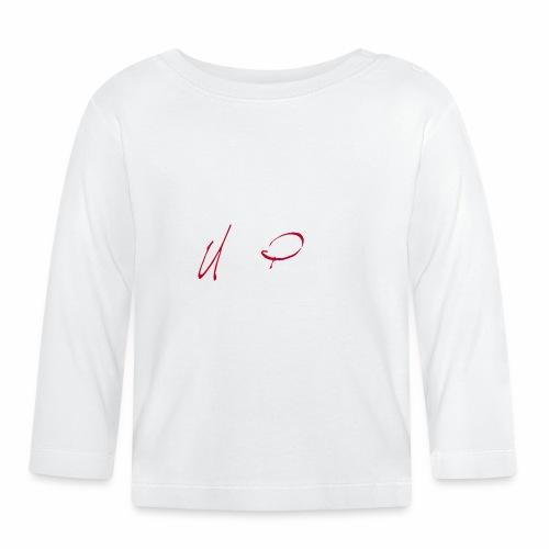 Logga röd och vit text - Långärmad T-shirt baby