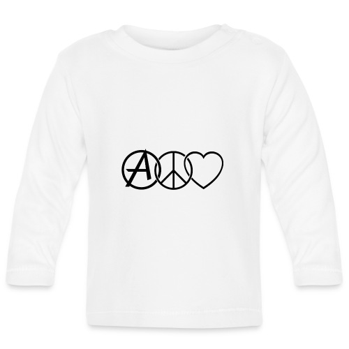 ANARCHY PEACE & LOVE - Baby Long Sleeve T-Shirt