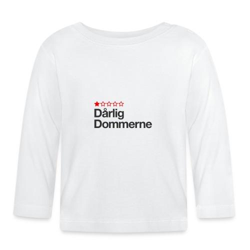 Dårligdommerne Sort tekst - Langærmet babyshirt
