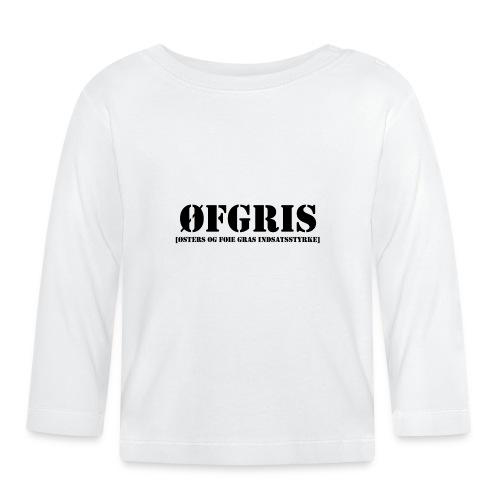 ØFGRIS - Børnekollektion - Langærmet babyshirt