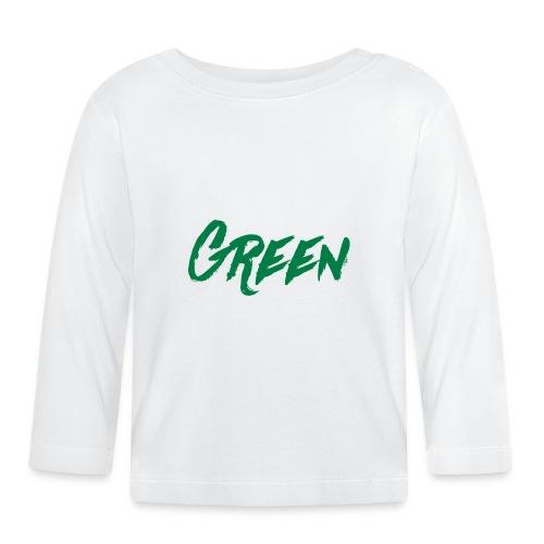 green-scritta-verde - Maglietta a manica lunga per bambini