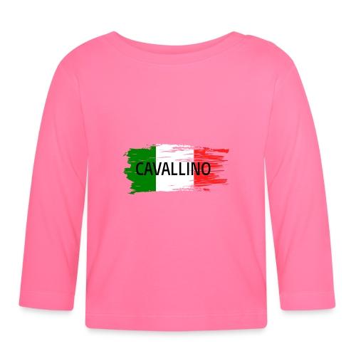 Cavallino auf Flagge - Baby Langarmshirt