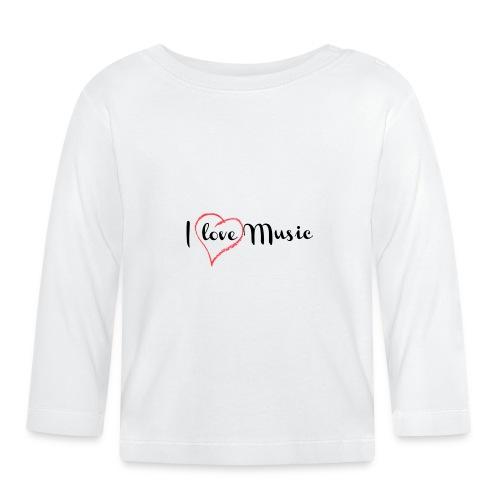 I Love Music - Maglietta a manica lunga per bambini
