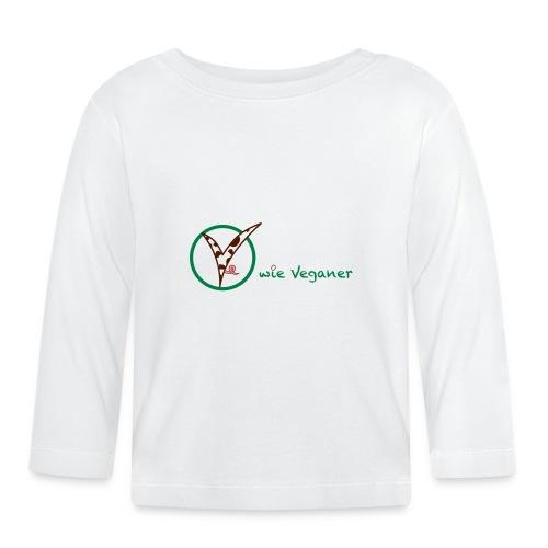 V wie Veganer - Baby Langarmshirt
