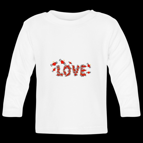 Flying Hearts LOVE - Baby Long Sleeve T-Shirt
