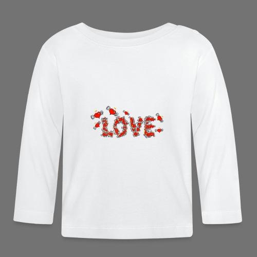 Flying Hearts LOVE - Langærmet babyshirt