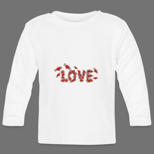 Latające miłości serc - Koszulka niemowlęca z długim rękawem