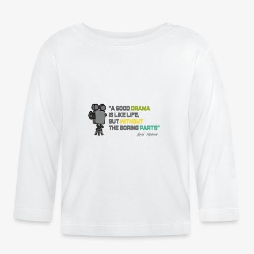 Pasión por el cine - Camiseta manga larga bebé