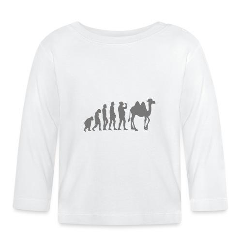 evolution_chameau2 - T-shirt manches longues Bébé