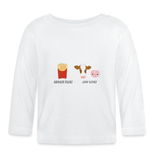 choose fries not lives - Baby Langarmshirt