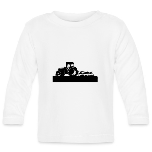Tractor with cultivator - Baby Long Sleeve T-Shirt