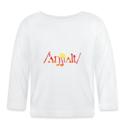 logo gerastert (flamme) - Baby Langarmshirt