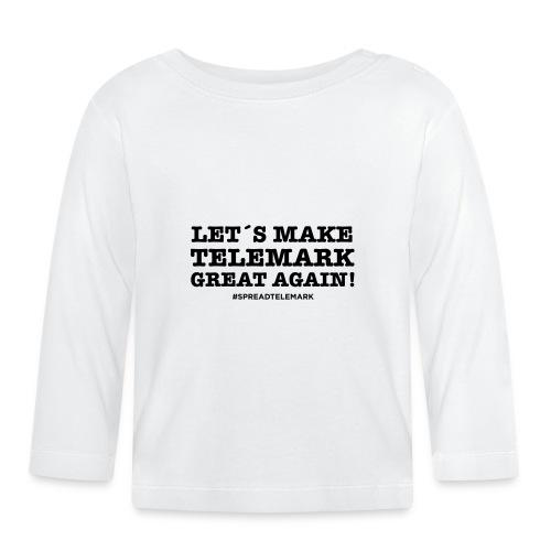 Let´s make telemark great again - Vauvan pitkähihainen paita