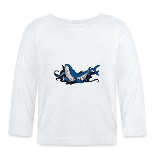 Doodle ink Whale - Maglietta a manica lunga per bambini
