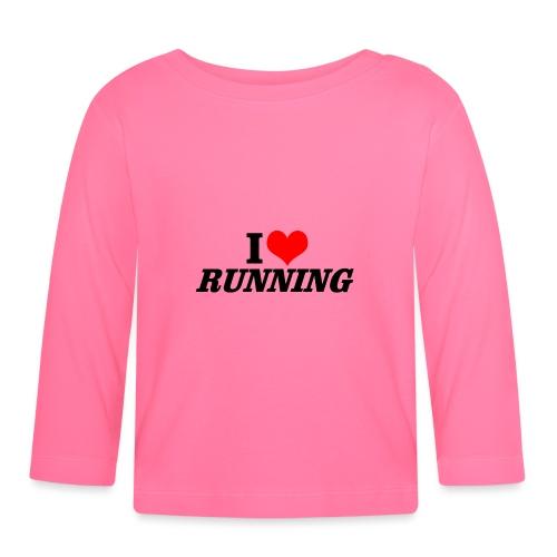 I love running - Baby Langarmshirt