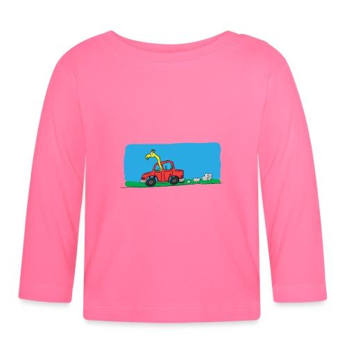 La girafe conductrice - T-shirt manches longues Bébé