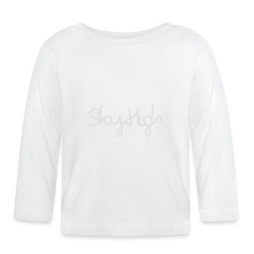 SkyHigh - Men's T-Shirt - Gray Lettering - Baby Long Sleeve T-Shirt