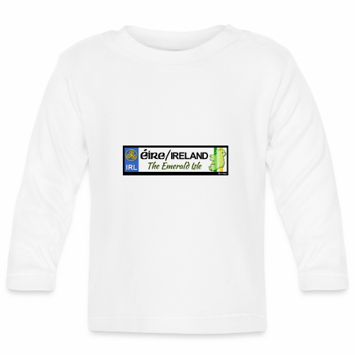 EIRE IRELAND IRL, The Emerald Isle, licence tag EU - Baby Long Sleeve T-Shirt