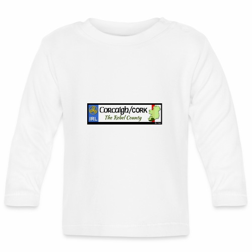 CO. CORK, IRELAND: licence plate tag style decal - Baby Long Sleeve T-Shirt