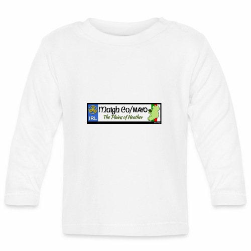 CO. MAYO, IRELAND: licence plate tag style decal - Baby Long Sleeve T-Shirt