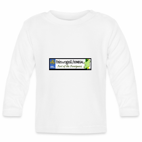 DONEGAL, IRELAND: licence plate tag style decal - Baby Long Sleeve T-Shirt