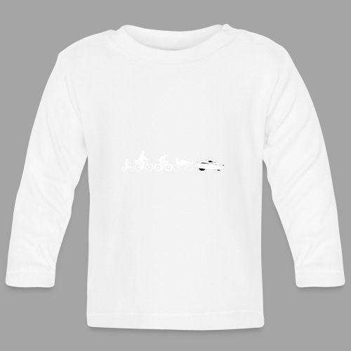 Bicycle evolution white - Vauvan pitkähihainen paita